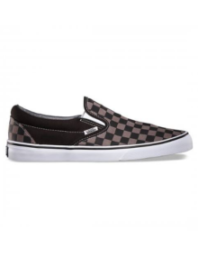 Slip-On Vans Checkers Pewter Black